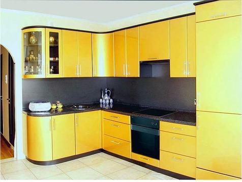 Кухня МДФ желтая