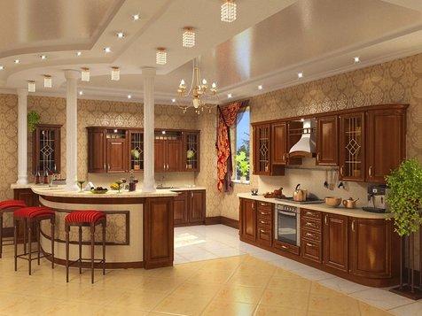 Кухня из массива дуба Элит
