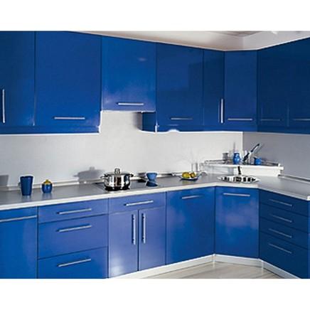 Кухня МДФ матовый синий
