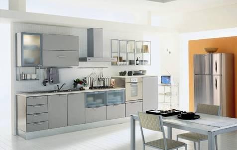 Кухня МДФ металлик