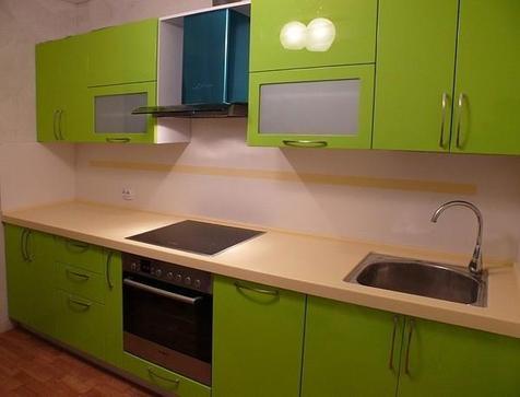 Кухня из эмали зеленая