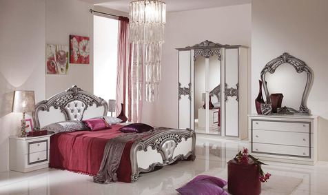 Спальня Аида Белый с серебром