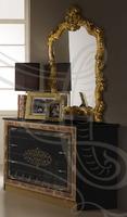 """Мебель для спальни """"Джессика"""", цвет темный: черный глянец с золотом"""