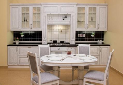 Кухня Констанция Дуб+шпон. Цвет Руджери+ патина