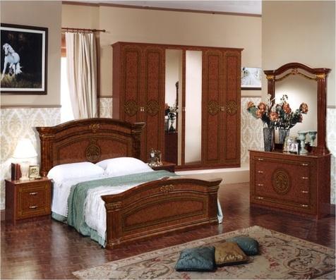 """Спальня """"Имперо"""" 6 дв., (орех) кровать (без царг)"""