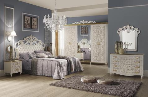 """Мебель для спальни """"Изабелла"""", цвет белый золото"""