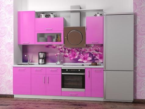 Кухня Розовая МДФ глянец