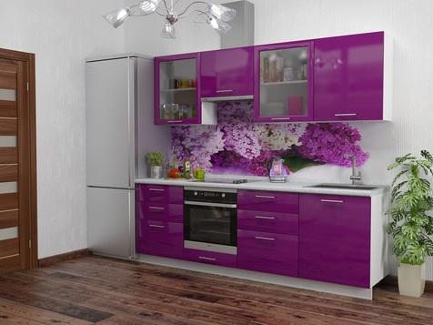 Кухня МДФ фиолетовая