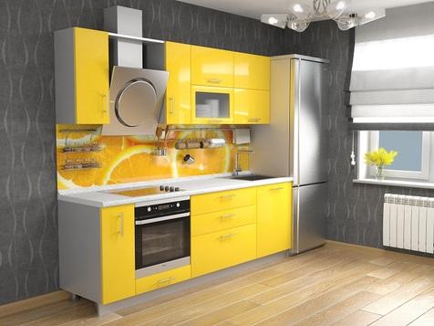 Кухня Желтый глянец