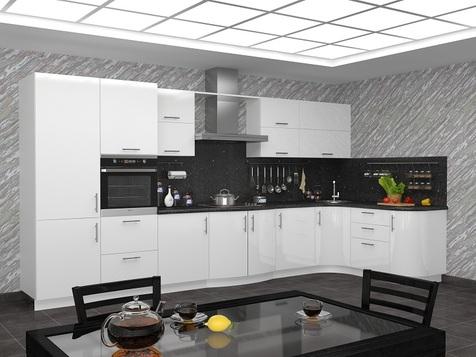 Кухня белая МДФ глянец