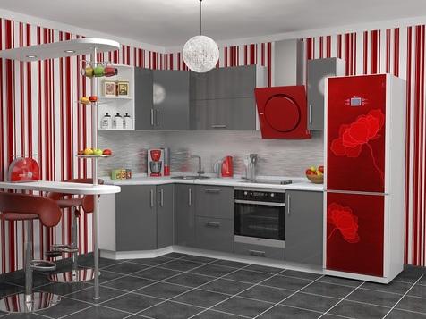 Кухня Серая