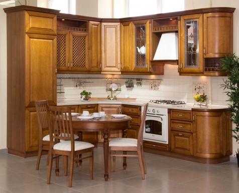 Кухня Лаура берёза+шпон, Цвет Джотто