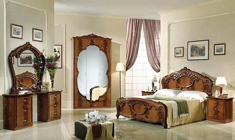"""Спальня """"Олимпия"""" цвет  орех"""