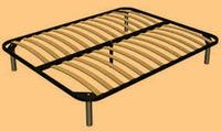 Решётка ортопедическая с деревянными ламмелями на металлических ножках